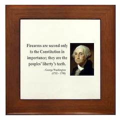 George Washington 12 Framed Tile