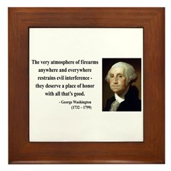 George Washington 13 Framed Tile