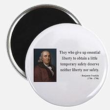 """Benjamin Franklin 1 2.25"""" Magnet (10 pack)"""