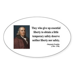 Benjamin Franklin 1 Oval Decal