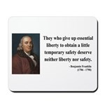Benjamin Franklin 1 Mousepad