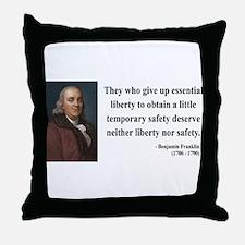 Benjamin Franklin 1 Throw Pillow