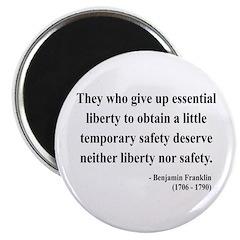 """Benjamin Franklin 1 2.25"""" Magnet (100 pack)"""