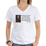 Benjamin Franklin 2 Women's V-Neck T-Shirt
