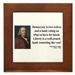 Benjamin Franklin 2 Framed Tile