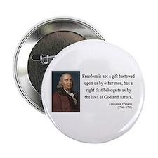 "Benjamin Franklin 19 2.25"" Button (10 pack)"
