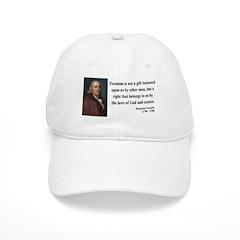 Benjamin Franklin 19 Baseball Cap