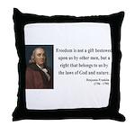 Benjamin Franklin 19 Throw Pillow