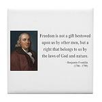 Benjamin Franklin 19 Tile Coaster
