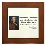 Benjamin Franklin 19 Framed Tile