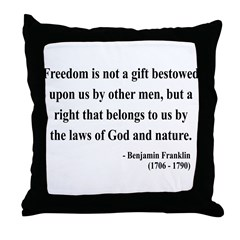 Benjamin Franklin 19 Throw Pillow