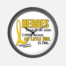 Heroes All Sizes 1 (Little Girl) Wall Clock