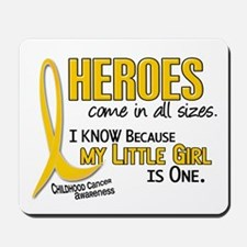 Heroes All Sizes 1 (Little Girl) Mousepad