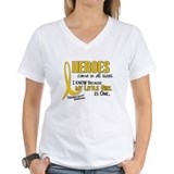 Child with cancer Womens V-Neck T-shirts