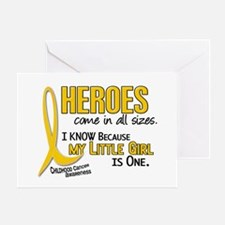 Heroes All Sizes 1 (Little Girl) Greeting Card