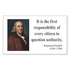 Benjamin Franklin 17 Rectangle Decal