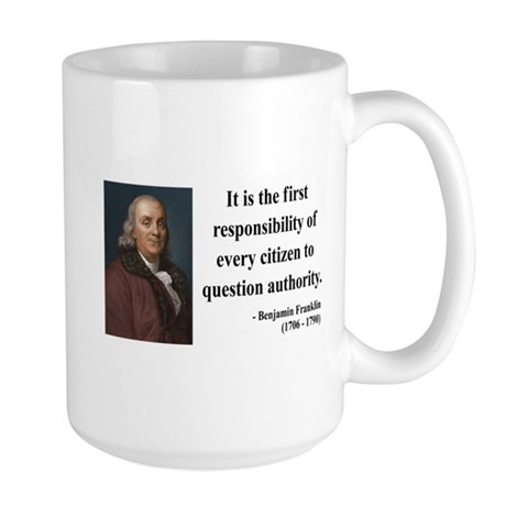 Benjamin Franklin 17 Large Mug
