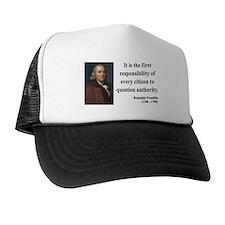 Benjamin Franklin 17 Trucker Hat
