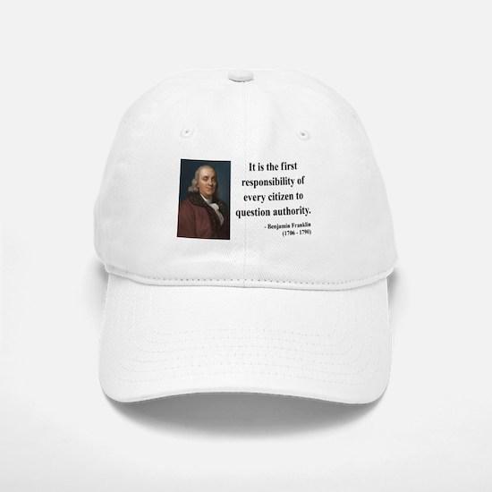 Benjamin Franklin 17 Baseball Baseball Cap