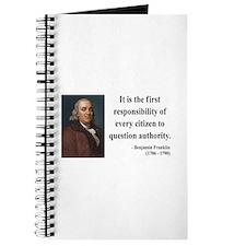 Benjamin Franklin 17 Journal
