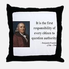 Benjamin Franklin 17 Throw Pillow