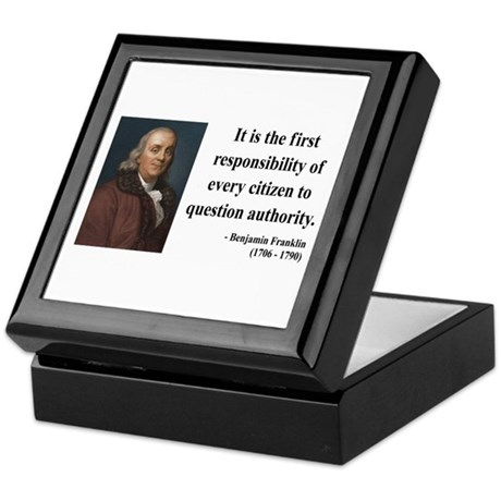 Benjamin Franklin 17 Keepsake Box