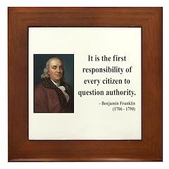 Benjamin Franklin 17 Framed Tile