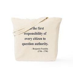 Benjamin Franklin 17 Tote Bag
