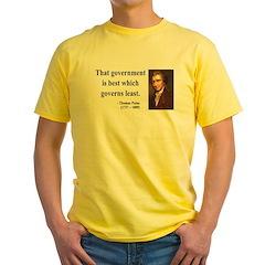 Thomas Paine 1 Yellow T-Shirt