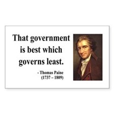 Thomas Paine 1 Rectangle Decal