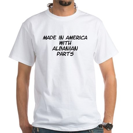 Albanian Parts White T-Shirt