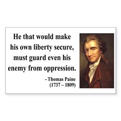Thomas Paine 3 Rectangle Decal