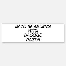 Basque Parts Bumper Bumper Bumper Sticker