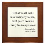 Thomas Paine 3 Framed Tile
