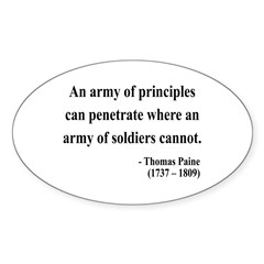 Thomas Paine 4 Oval Decal