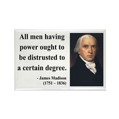 James Madison 1 Rectangle Magnet
