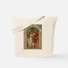 Dancing Minstrel Couple Tote Bag