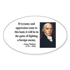 James Madison 2 Oval Decal
