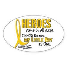 Heroes All Sizes 1 (Little Boy) Oval Decal