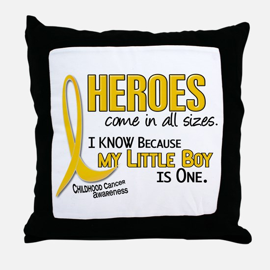 Heroes All Sizes 1 (Little Boy) Throw Pillow