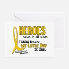 Heroes All Sizes 1 (Little Boy) Greeting Card