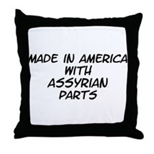 Assyrian Parts Throw Pillow