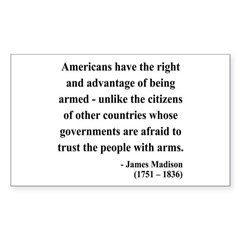 James Madison 6 Rectangle Decal