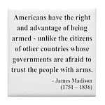 James Madison 6 Tile Coaster