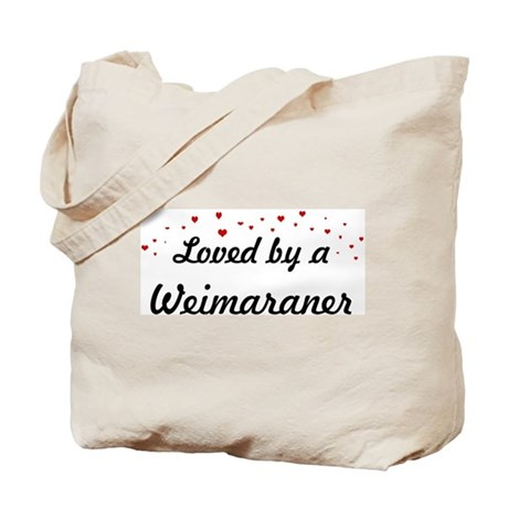 Loved By Weimaraner Tote Bag
