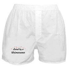 Loved By Weimaraner Boxer Shorts