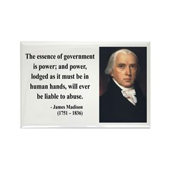 James Madison 9 Rectangle Magnet