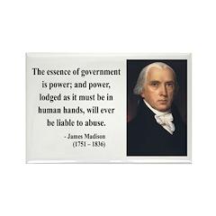 James Madison 9 Rectangle Magnet