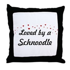 Loved By Schnoodle Throw Pillow