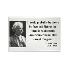 Mark Twain 16 Rectangle Magnet (10 pack)